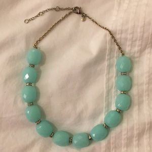 J. Crew Turqouise Beaded Statement Necklace